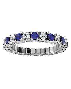 Diamond & Sapphire Expandable Spryng Ring