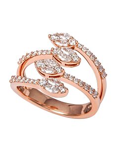 Marquise and Round Diamonds in Rose Gold