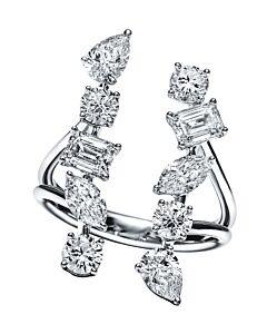 Diamond Shapes Cuff Ring