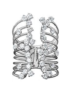 Dimensional Diamond Cuff Ring