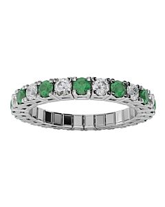 Diamond & Emerald Expandable Eternity Spryng Ring