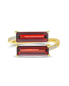 Dual Garnet Diamond Ring