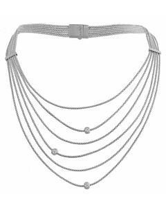 Six Strand White Sapphire Necklace