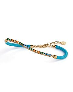 Capri Tropical Topaz Bracelet w/Light Blue Cord