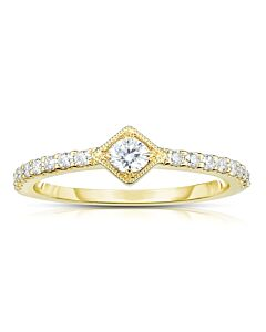 Eminently Wearable Yellow Gold Diamond Ring