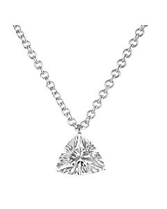 14k Gold Pierced Trillion Diamond Pendant