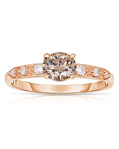 JPM COGNAC DIAMOND RING
