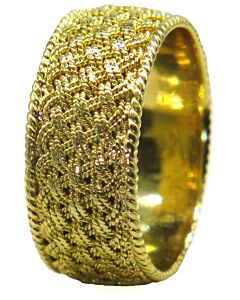 Estate Collection Woven Gold Ring from Tiffany