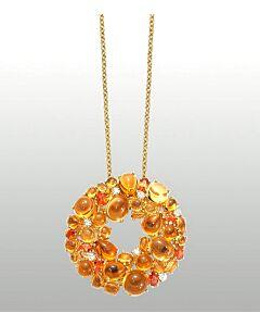 Gemstone and Diamond Pendant