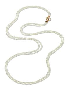 Double Strand Akoya Pearl Necklace