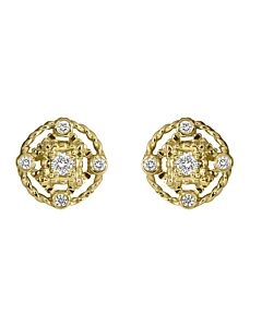 Yellow Gold Five Diamond Stud Earrings