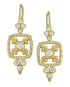Dangling Cascata Diamond Earrings