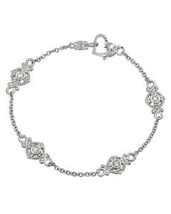 White Gold Cascata Double Sided Diamond Bracelet