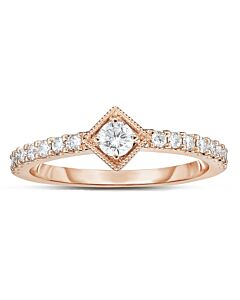 Eminently Wearable Rose Gold Diamond Ring