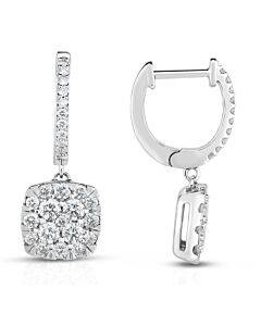 JPM Square Diamond Dangling Earrings