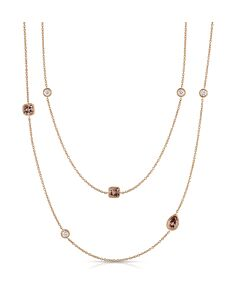 Three Carat Cognac & White Diamond Necklace