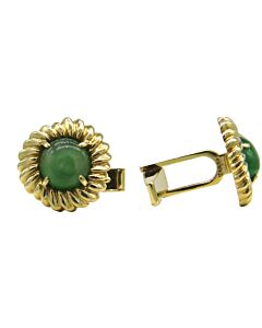14K Gold and Jade Cufflinks from Cartier