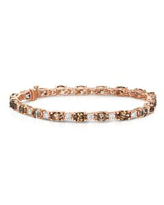 Ten Carat White & Cognac Diamond Eternity Bracelet