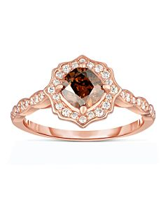 JPM Scalloped Edged Cognac Diamond Ring