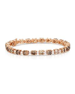 Important White & Cognac Diamond Bracelet