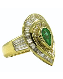 Magnificent Estate Collection Emerald & Diamond Ring