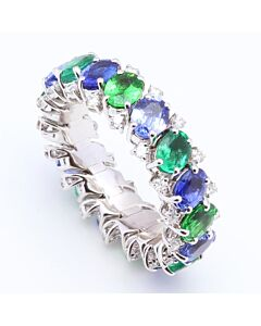 Flexible Multi Gemstone Eternity Ring