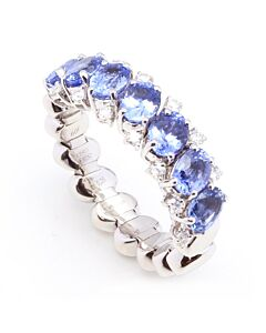 Flexible Sapphire and Diamond Ring