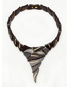 Natural Ebony and Diamond Necklace