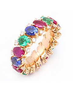 Flexible Multicolor Gemstone Ring