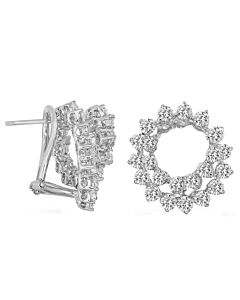 Glamorous Diamond Swirl Earrings