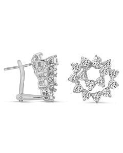 Small Diamond Swirl Earrings