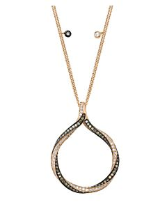 Twisted Circle White & Cognac Diamond Pendant