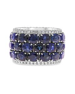 Diamond Edged Sapphire Eternity Ring