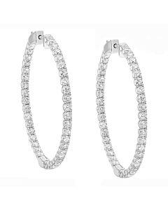 Bold 3.25 ct. diamond hoop earrings