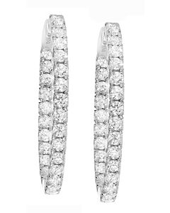 Delightful 2.40 ct. diamond hoop earrings