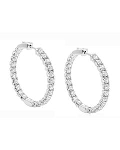 Powerful 4.32 ct. diamond hoops