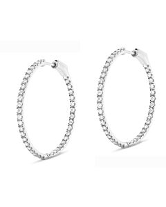 Classic 1 ct. diamond hoop earrings