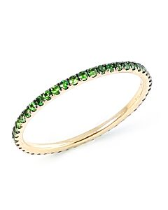 Slender Tsavorite Eternity Ring