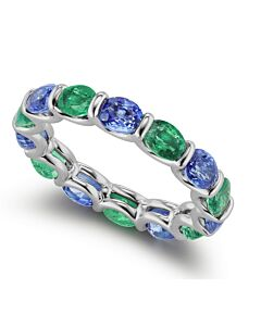 Emerald and Sapphire Eternity Ring