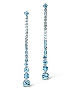 Dangling Blue Topaz Earrings