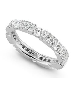 Patterned Diamond Eternity Ring