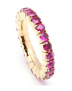 Flexible Pink Sapphire Eternity Ring