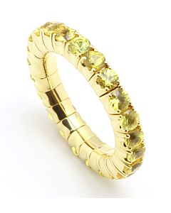 Flexible Yellow Sapphire Eternity Ring