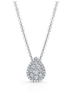 Pear Shaped Diamond Cluster Pendant