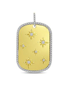 Starburst Dogtag Pendant with Chain