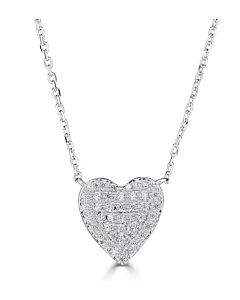 Medium Size Diamond Heart Necklace