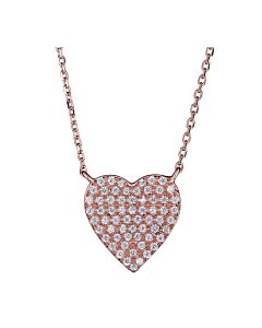 Larger Size Diamond Heart Necklace