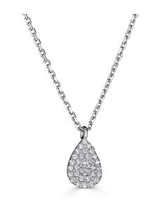 Petite Pear Shaped Diamond Necklace