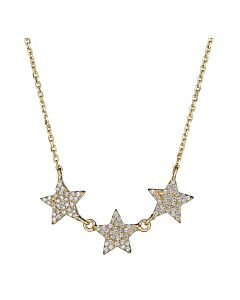 Triple Pave Star Necklace