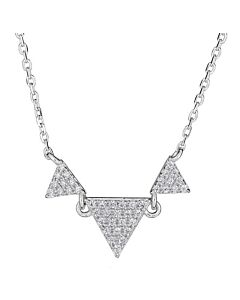 Triple Diamond Triangle Necklace